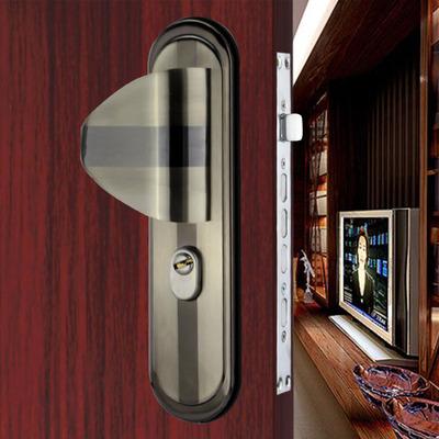 防盗门锁外固定大把手大门锁面板超C级防盗门把手铁门实木门锁具