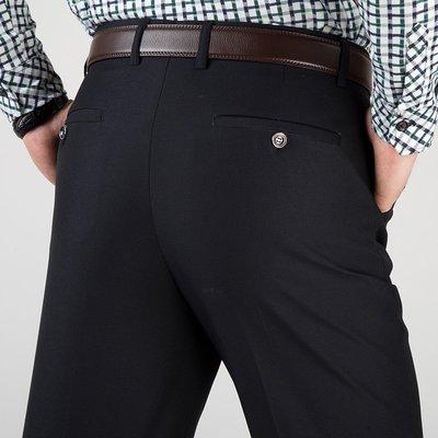 新款银行职工等男士西裤 商务宽松休闲直筒中年职业正装西服长裤
