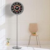 European floor-to-ceiling clock Living room seat metal vertical clock silent clock bedroom fashion stainless steel station clock