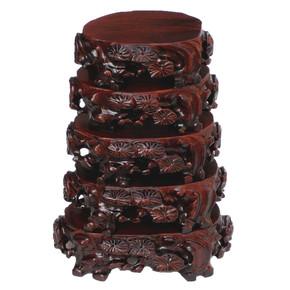a056 精品奇石底座 石头底座 椭圆形实木可挖槽 根雕木底座托礼品