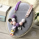 Korean Girls, Girls, Babies, Jewelry, Wool Balls, Mickey Minnie Cartoon Necklace and Sweater Chain