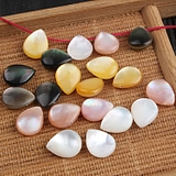 natural sea shell 8*10mm side hole double-sided three-dimensional teardrop-shaped cat eye shell pendant DIY jewelry accessories