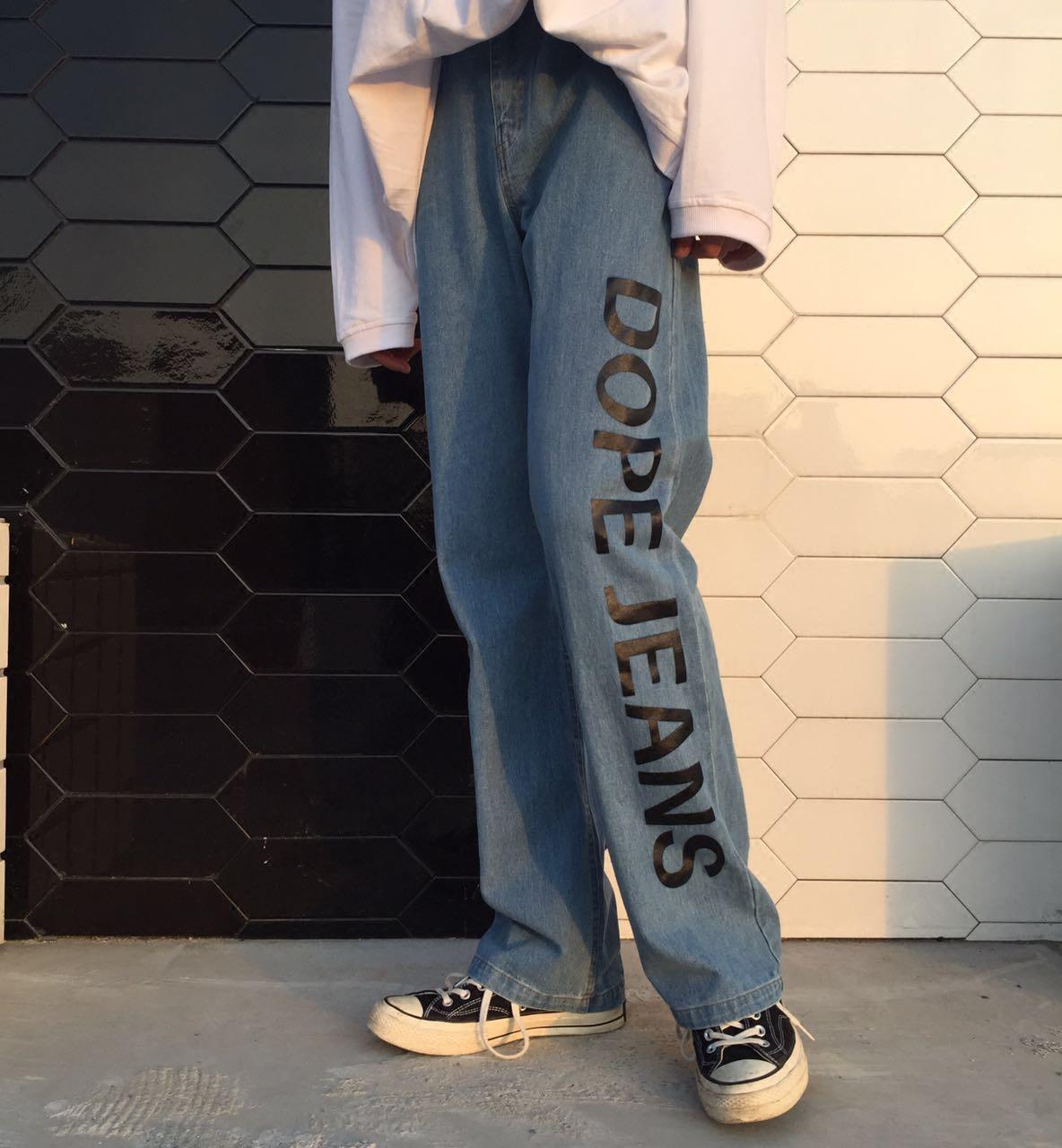 裤子女阔腿裤牛仔