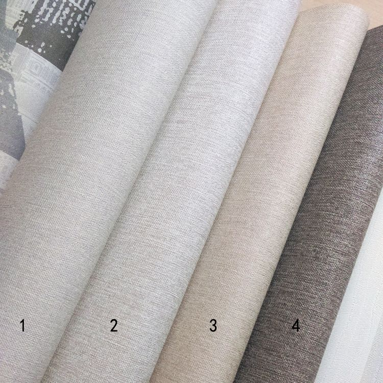 卡其布纹米色咖色可擦洗壁纸SH韩国进口墙纸平米16.5大卷现货