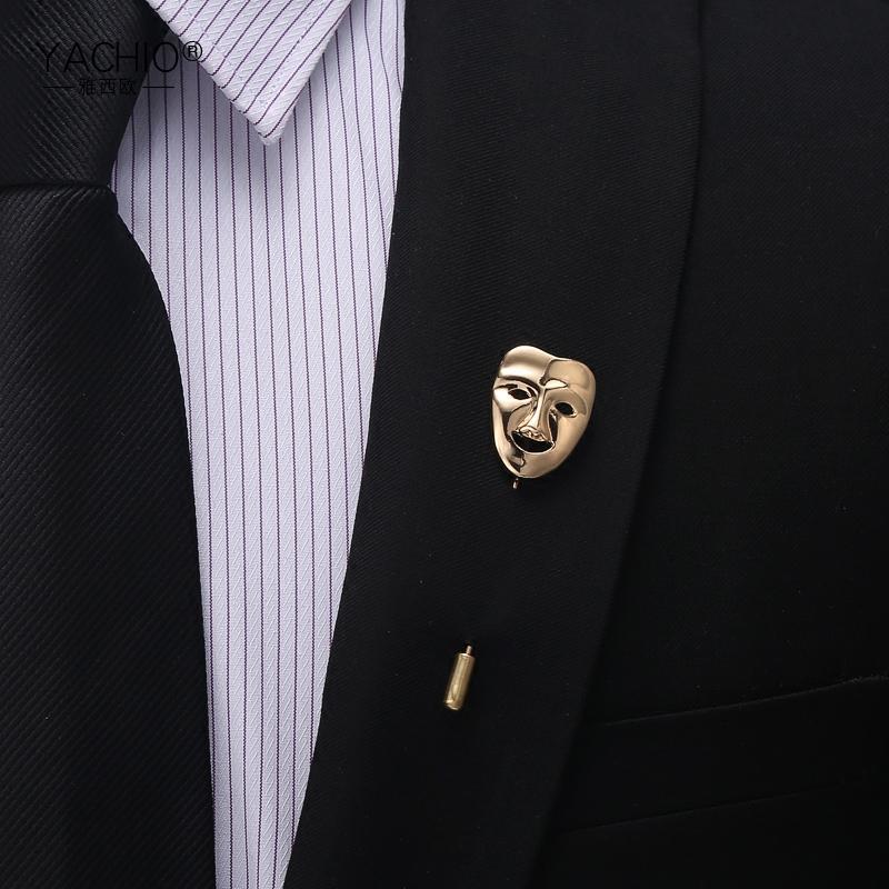 雅西欧男士胸针领针西装西服领部配饰男女简约时尚个性胸花别针女