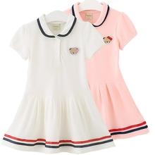 高尔夫服装童装女童连衣裙夏季新款短袖polo裙儿童网球棒球运动裙