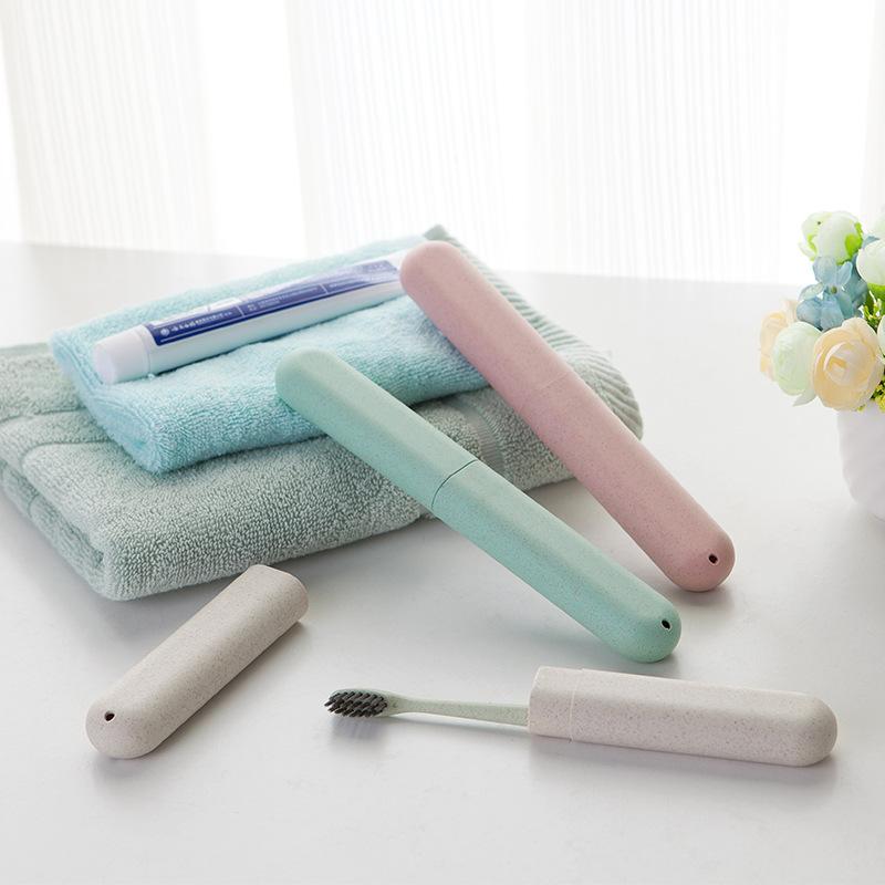 旅行牙刷盒保护套牙刷套装 便携牙具盒牙刷收纳盒软毛成人牙桶