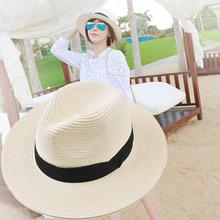帽子男夏天旅游度假沙滩帽大沿太阳帽大檐草帽巴拿马遮阳帽女情侣