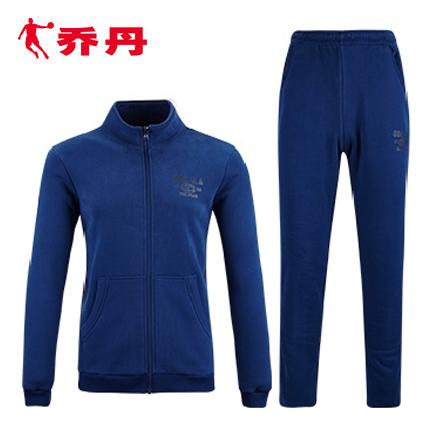 乔丹运动套装秋潮流韩版棉质长袖跑步运动装男休闲开衫运动服男装