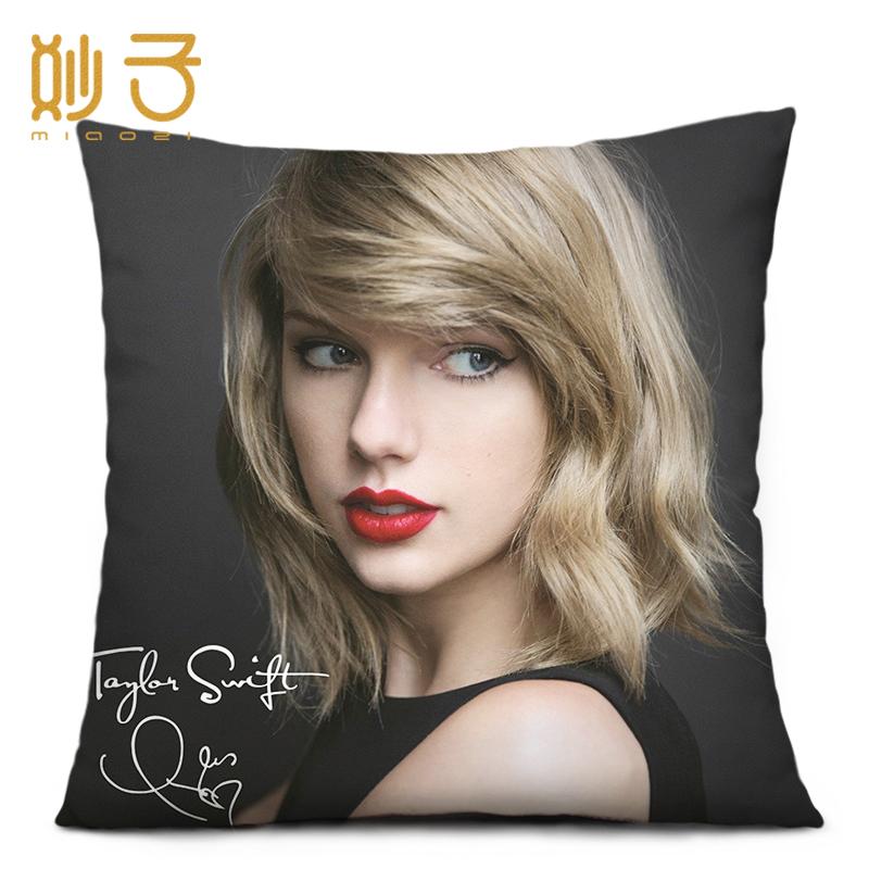 午睡靠枕垫 泰勒斯威夫特抱枕头周边同款 DIY创意生日礼物礼品定制