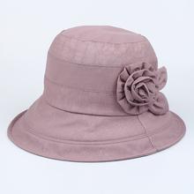 秋季女帽薄款中年太阳帽遮阳防晒帽中老年老人奶奶春秋天妈妈布帽