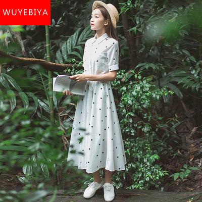 裙子仙女超仙森系中长裙2019新款夏装初中高中学生韩版仙气连衣裙