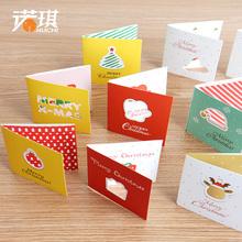 诺琪 韩国创意迷你圣诞贺卡祝福许愿留言卡吊卡圣诞节装饰小挂件