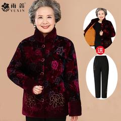 女式中老年棉外套