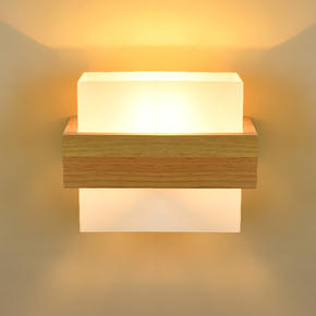 创意简约客厅卧室实木艺壁灯床头灯简欧复古LED背景墙过道楼梯灯