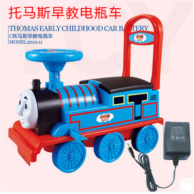 奋发越诚拖马斯童车手推学步车火车头多功能1-3岁宝宝电瓶车玩具