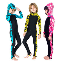 SBART/Sharbart children's swimsuit, sunscreen snorkeling suit, long sleeve winter swimming suit for boys and girls