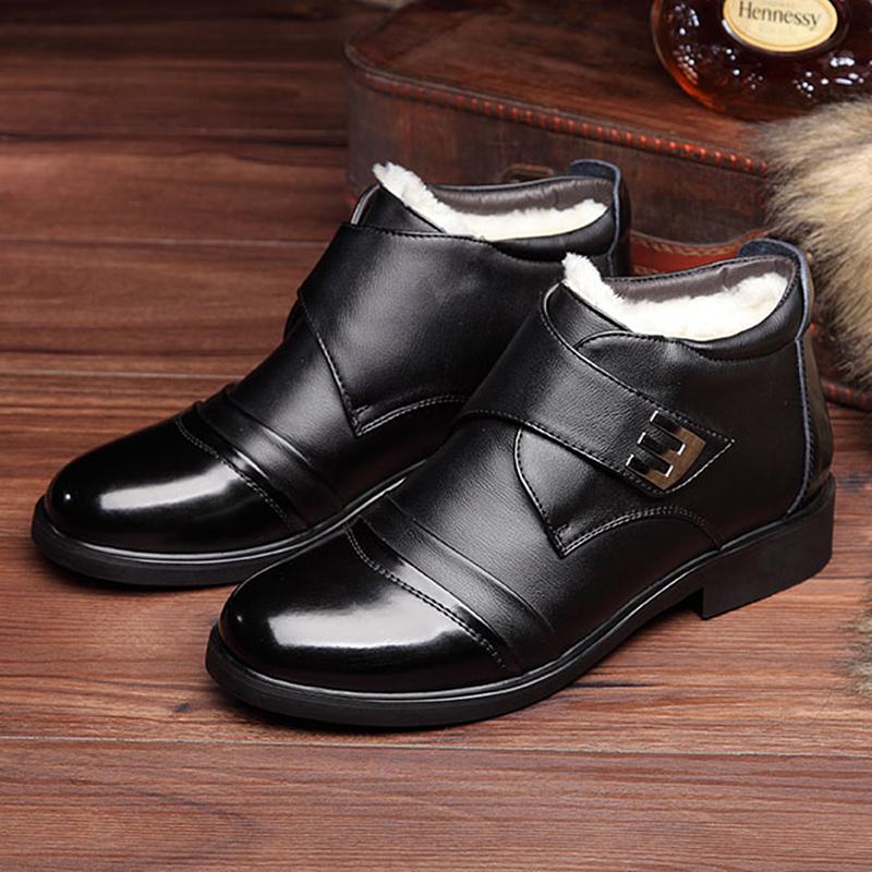 男款高帮皮鞋
