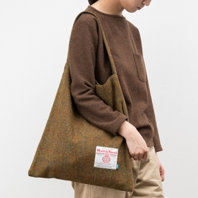 NTMY. Harris Tweed Tote 哈里斯粗花呢羊毛单肩手拎包
