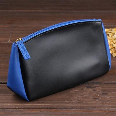 包邮雅诗兰黛2016新款蓝黑拼色化妆包收纳包专柜赠品包手拿包