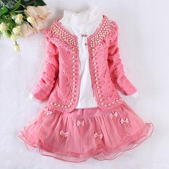 女童裙子三件套长袖