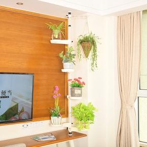 创意多层铁艺花架小型多功能室内办公室客厅电视柜窗户窗台花盆架