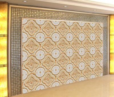 玉石拼花瓷砖大理石壁画电视背景墙3d3D雕刻欧式瓷砖背景墙中使用感受