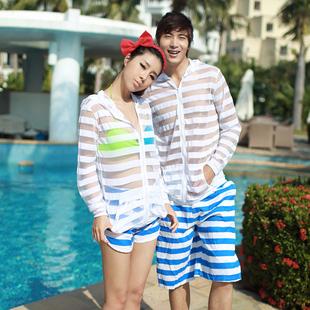 一套包邮 沙滩情侣装 海南巴厘岛海边旅游度假 沙滩裤男女 防晒衣