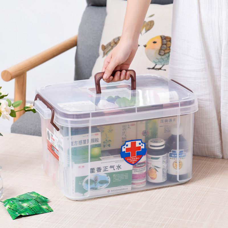 家庭小医药用多层手提药品收纳箱收纳盒家用塑料儿童出诊小药箱