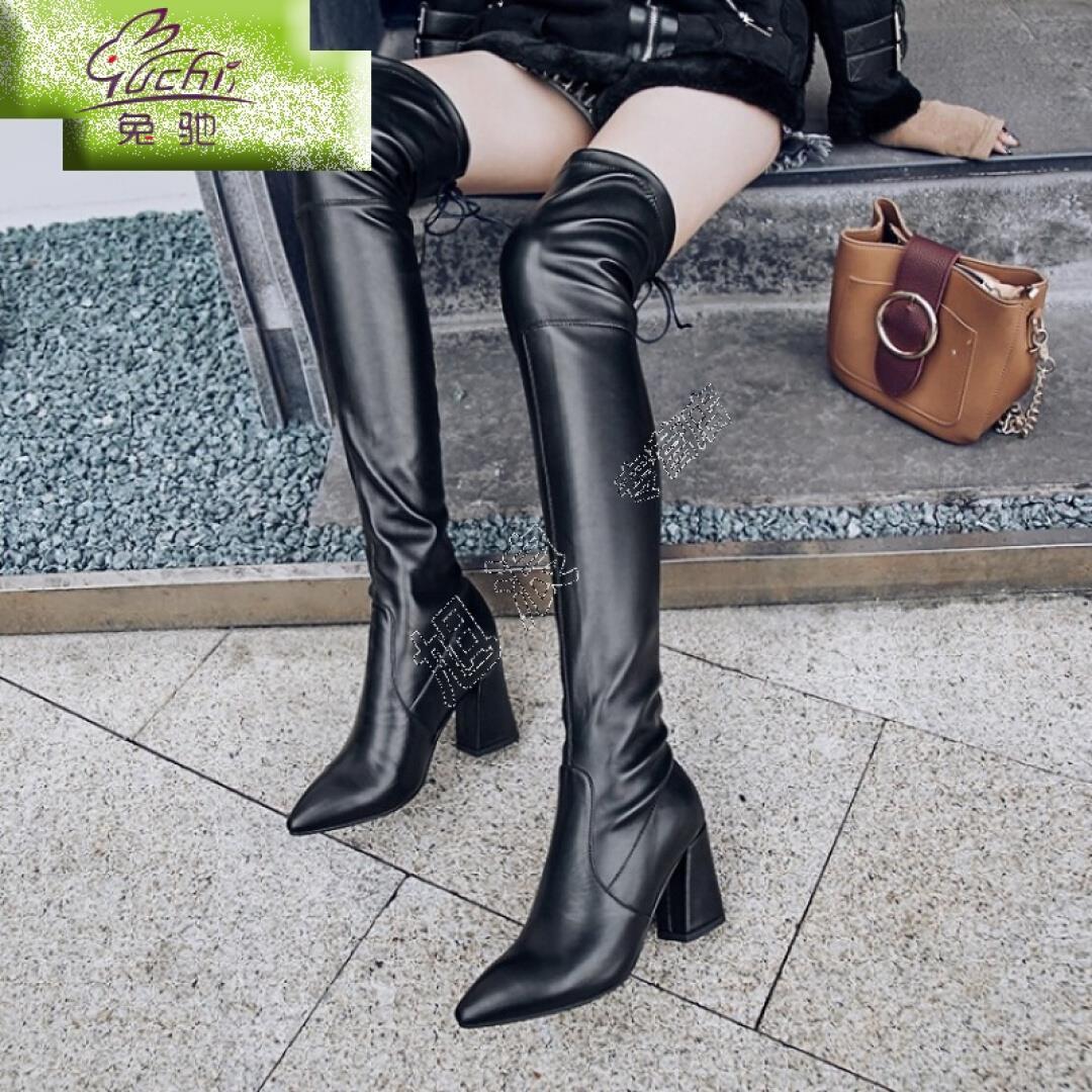 皮靴 女 加长靴过膝冬季低跟