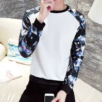 Autumn and winter add velvet clothing male set head youth Big code Korean version long sleeve printed baseball suit coat male student tide