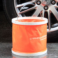 Foldable Car Wash Bucket Portable Car Car Shrink Outdoor Fishing Bucket Travel Brush Car Multifunction Large