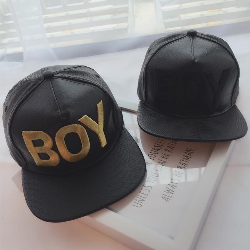 平沿帽皮帽子