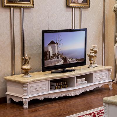 欧式大理石电视柜实木雕花奢华大户型客厅烤漆亮光白家具2.0组合品牌排行榜