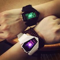 时尚潮流男女通用手表韩国复古学生简约概念情侣表女士网带表