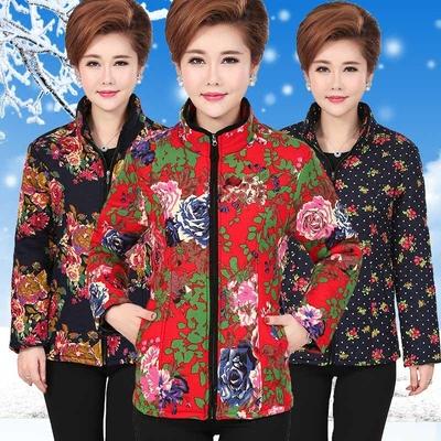 中年女冬装妈妈装中长款棉服40-50岁中老年女装轻便棉衣薄款棉袄