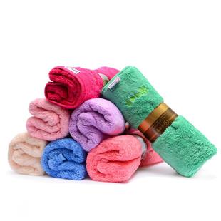 韩国 珊瑚绒毛巾柔软不掉毛加厚吸水性强干发擦手洗脸清洁