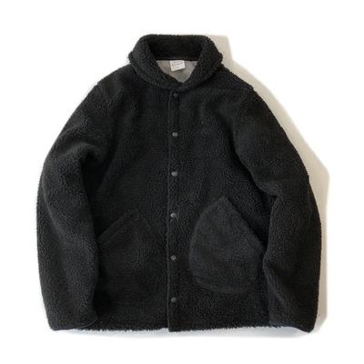 17秋冬 日系美式复古余文乐羊羔绒加厚保暖男女教练夹克休闲外套