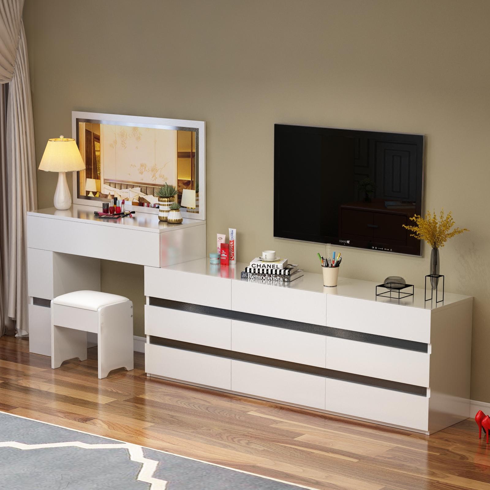 卧室电视柜梳妆台组合现代简约