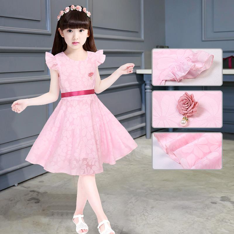 中小女童短袖连衣裙