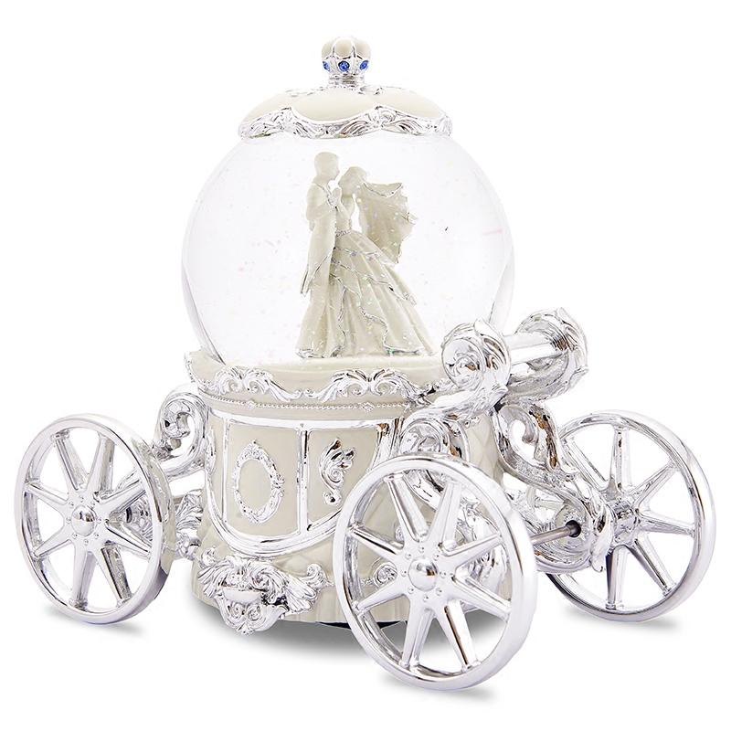 JARLL圆舞曲音乐盒八音盒水晶球雪花女生结婚新婚生日圣诞节礼物