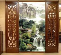 水墨国画大型壁画客厅电视墙中国风背景墙纸中式山水天道酬勤壁纸