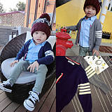 TB Same Autumn and Winter 2018 New Kid's Chao Fan Knitted Thin Colour-Coloured Card Coat for Boys and Babies