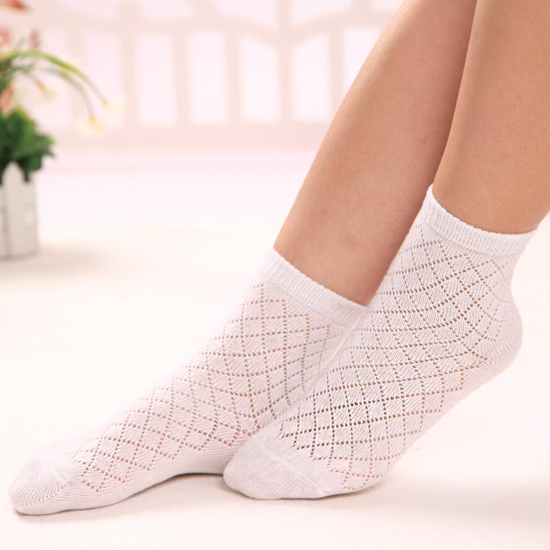 镂空中筒网袜