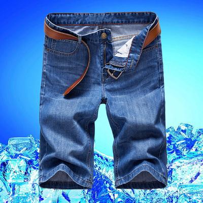 牛仔短裤 男夏季五分裤休闲中裤薄款牛仔裤男士直筒马裤七分裤子