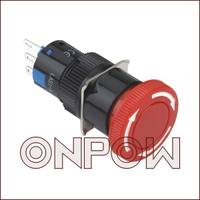 ONPOW China red wave button switch --16mm circular emergency stop button LAS1-AY-11TS//