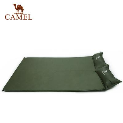 骆驼户外双人带枕自动充气垫野营露营双人防潮垫帐篷垫子睡垫地席