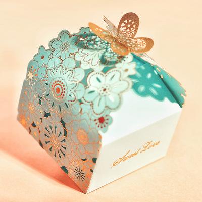 结婚礼盒喜糖盒子婚礼糖果包装袋婚庆用品婚庆糖盒欧式创意纸盒小