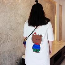 加大加肥码女装胖mm短袖女韩版宽松显瘦特大码200斤时尚休闲T恤裙