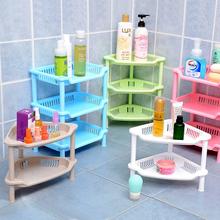 免打孔卫生间洗漱墙转角塑料置物架卫浴厕所浴室三角收纳储物架子